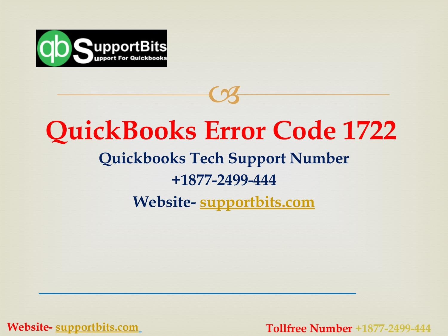 Quickbooks Install Error 1722 | Quickbooks Error Support Number +