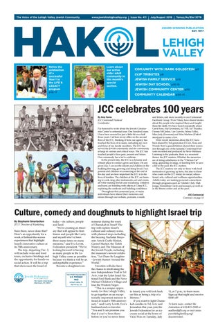 2a1efa562e4a HAKOL - July August 2018 by Jewish Federation of the Lehigh Valley ...