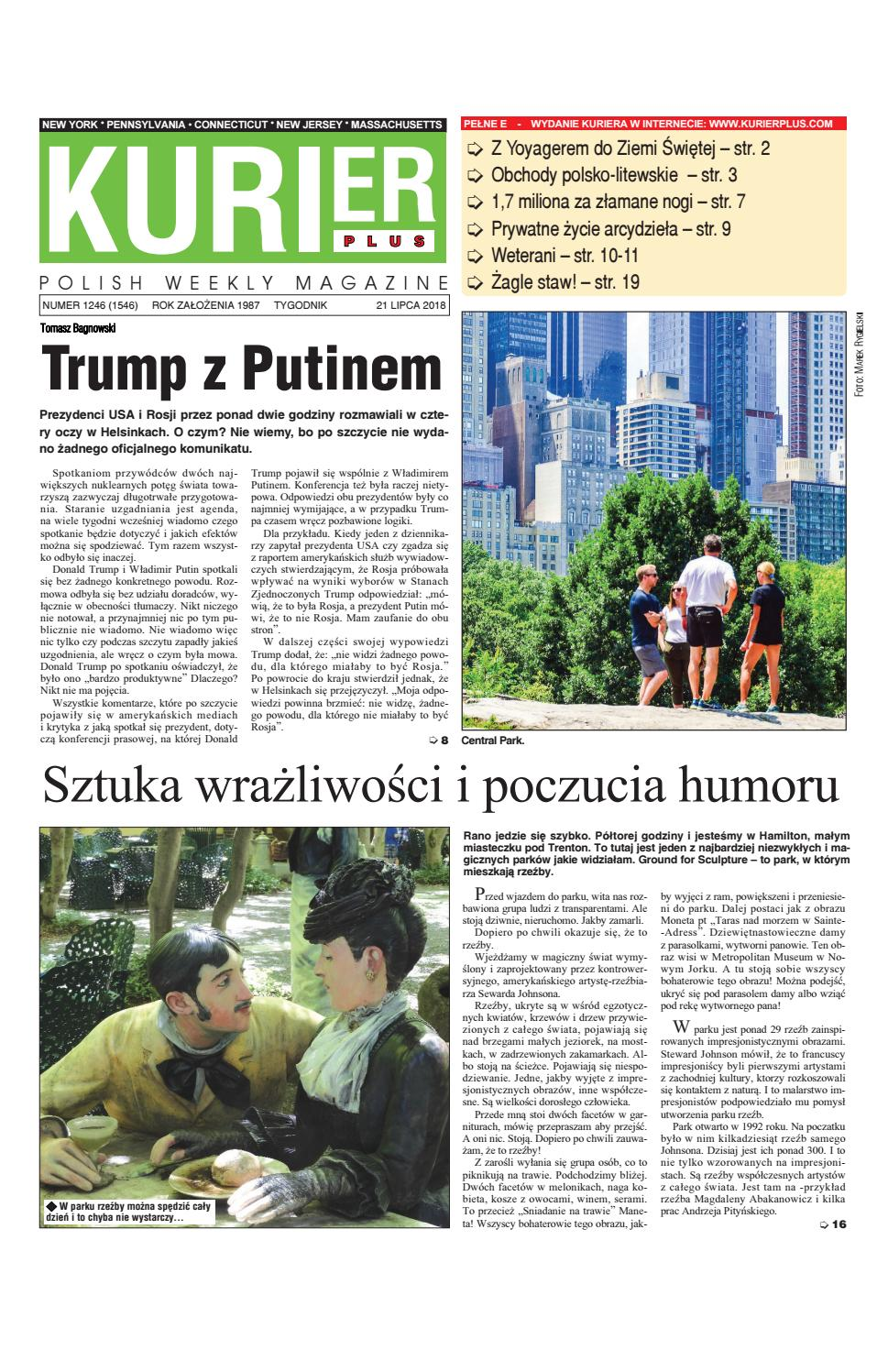 Kurier Plus 21 Lipca 2018 By Kurier Plus Issuu