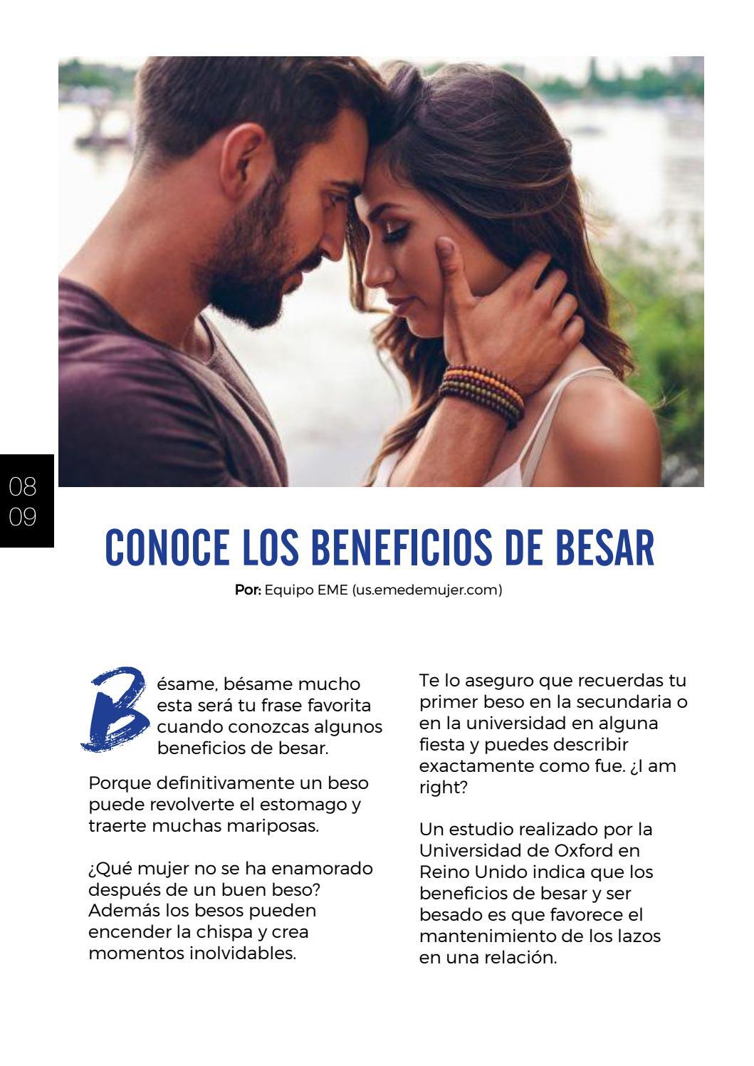 Beneficios fisicos del beso