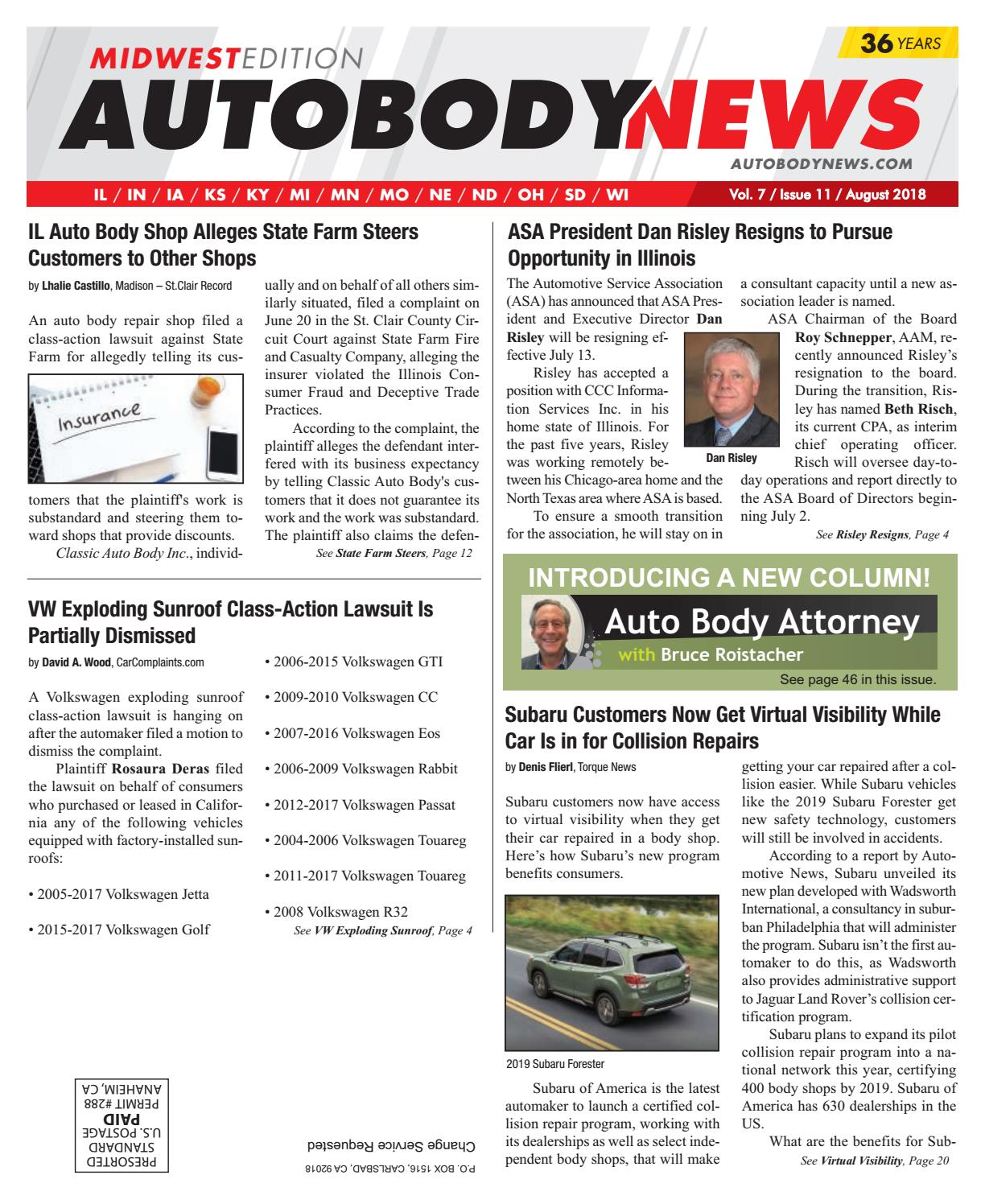 August 2018 Midwest Edition By Autobody News Issuu