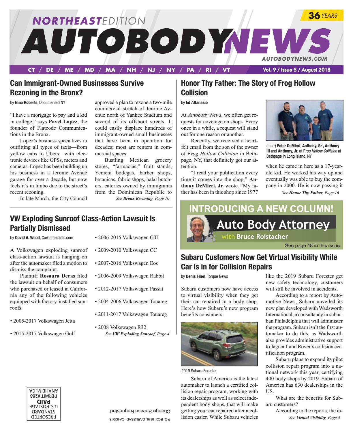 August 2018 Northeast Edition by Autobody News - issuu