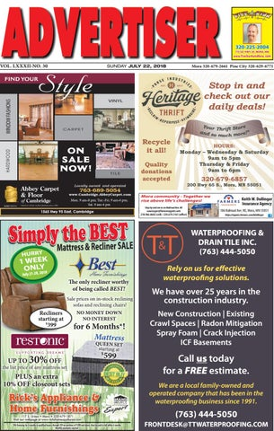 df8669f0474 Mora Advertiser 72218 by Kanabec County Times Pine City Pioneer - issuu