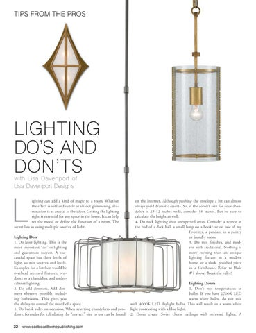 Page 34 of Lighting Do's and Don'ts