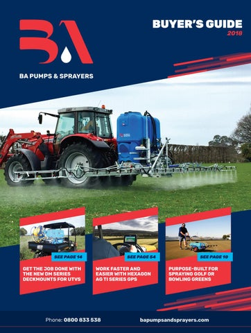 2018 ba pumps \u0026 sprayers buyers guide by bertolini australasia issuu2018 ba pumps \u0026 sprayers buyers guide