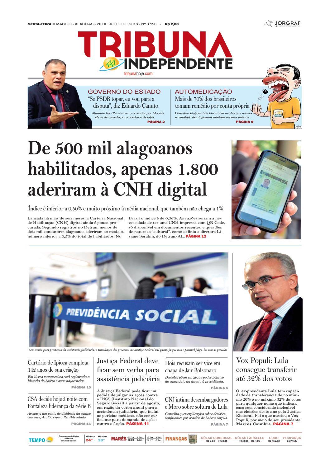 Edição número 3190 - 20 de julho de 2018 by Tribuna Hoje - issuu 9a3c8bcfe2691