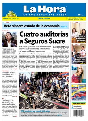 Quito 20 de julio de 2018 by Diario La Hora Ecuador - issuu d3ed5c889d0
