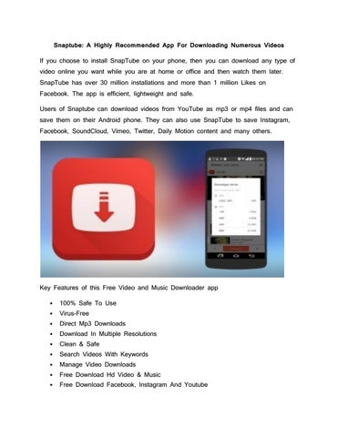 Snaptube: A Highly Recommended App For Downloading Numerous Videos