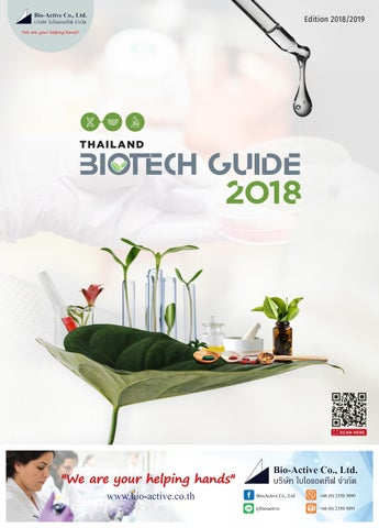 Thailand Biotech Guide 2016 (Edition 2018/2019) by Green World