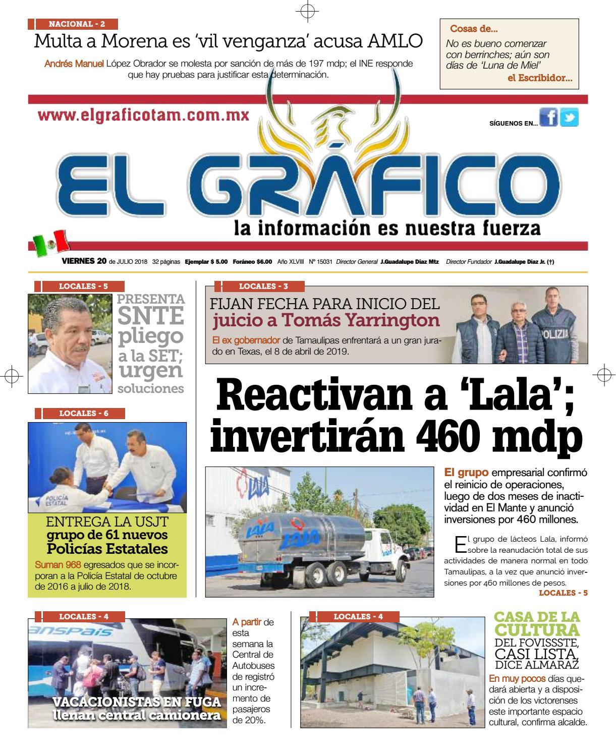 Edición 20 Julio 2018 by El Gráfico - issuu