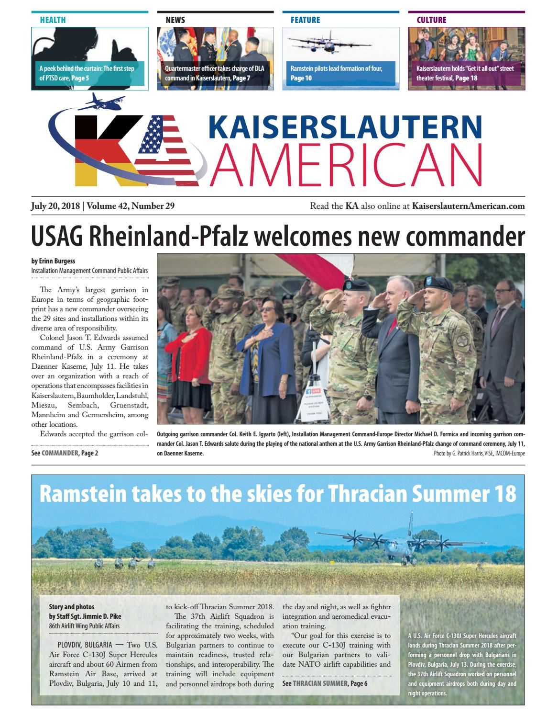 big sale 2c89f d0544 Kaiserslautern American, July 20, 2018 by AdvantiPro GmbH - issuu