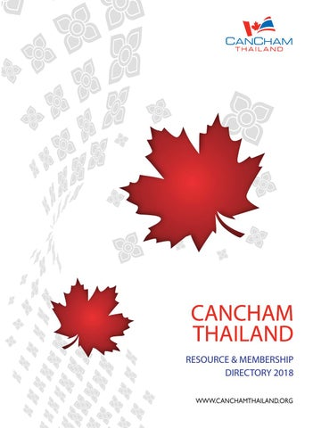 CanCham Thailand Member Directory - 2018 by CanCham Thailand - issuu