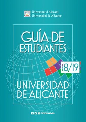 63ce6d28917c0 Guía de Estudiantes Universidad de Alicante curso 2018-19 by Oficina ...