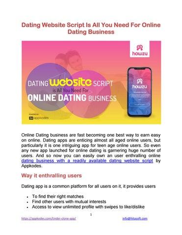 Online-Dating-Website-Geschäft
