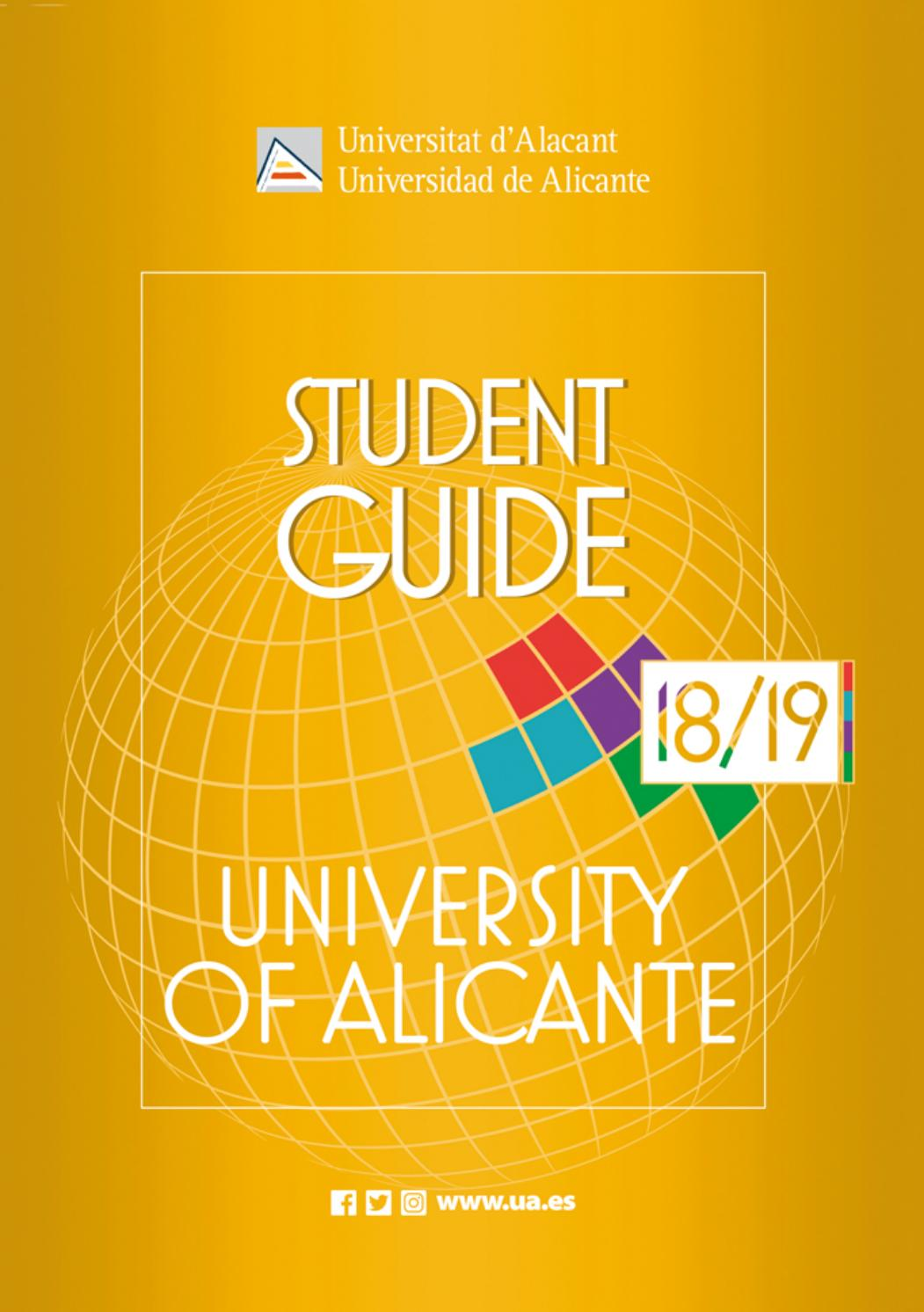 Student Guide University of Alicante 2018-19 by Oficina de