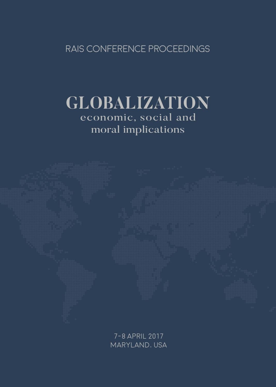 Globalization - Economic, Social and Moral Implications by