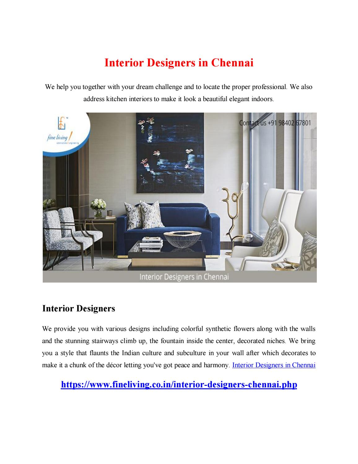 Interior Designers in Chennai by madhuram34 - issuu