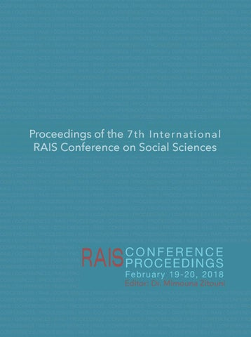 RAIS Conference Proceedings - The 7th International Conference on