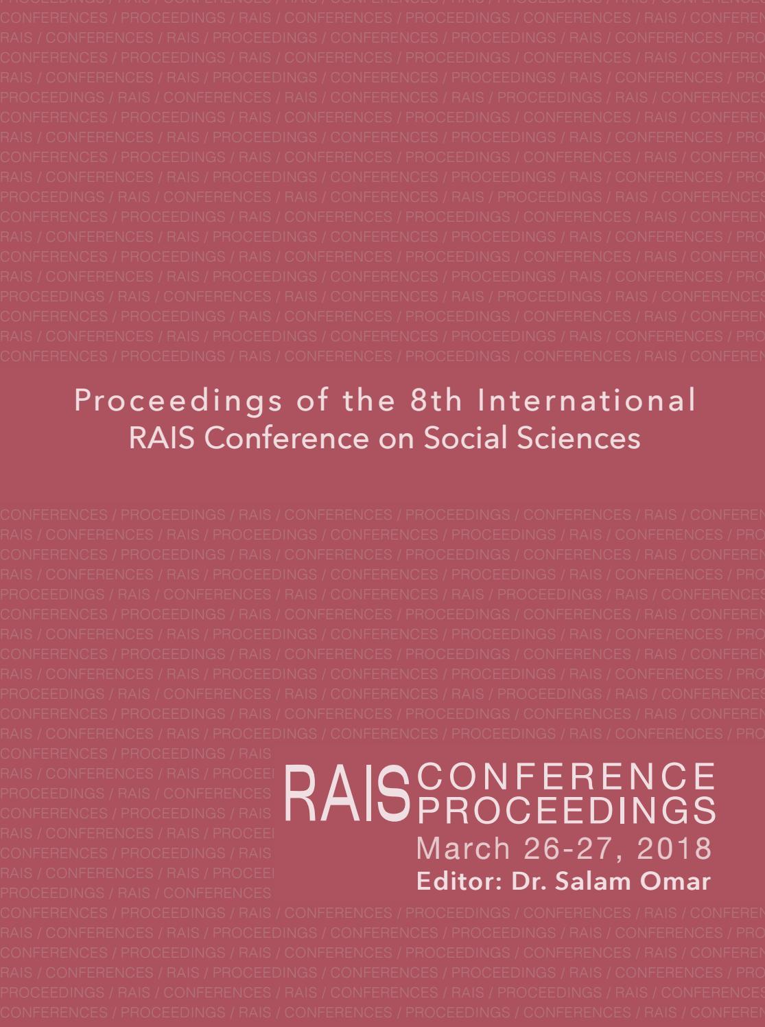 RAIS Conference Proceedings The 8th International