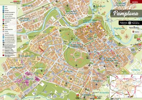 Mapa Pabellones Hospital De Navarra.Plano Turistico De Pamplona By Turismo Reyno De Navarra Issuu