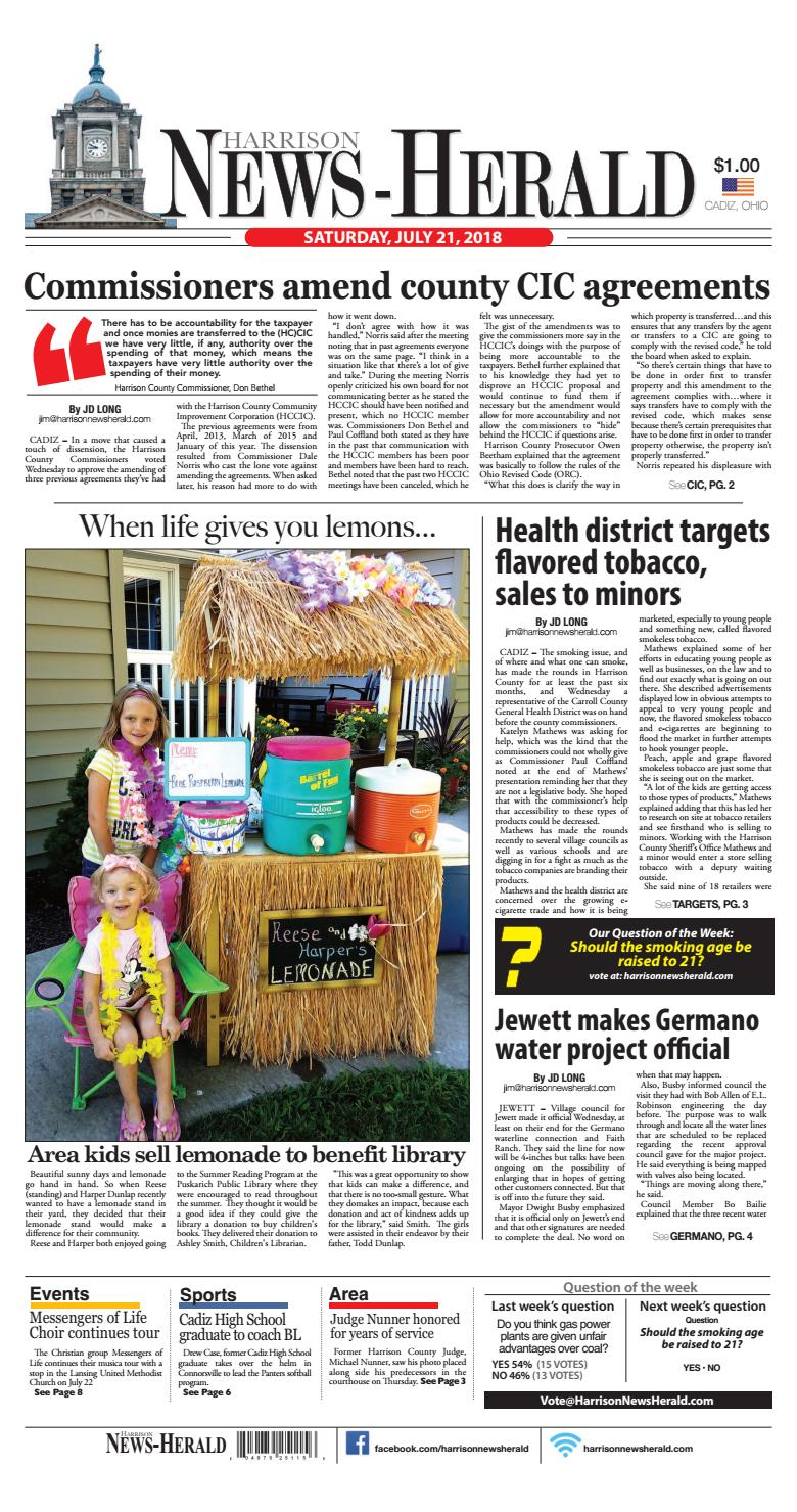 Harrison News Herald 07-21-18 by Schloss Media - issuu