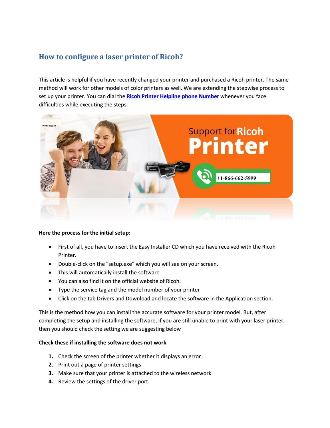 How to install the PostScripts drivers for Ricoh printer? by