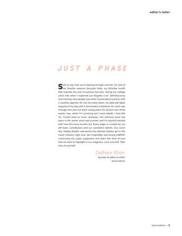 Page 3 of Editor's Letter: Just a Phase