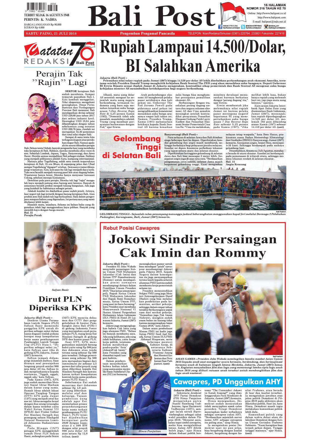 Edisi Sabtu 21 Juli 2018 Balipostcom By E Paper Kmb Issuu Produk Ukm Bumn Bakso Ikan Tuna Khas Ambon