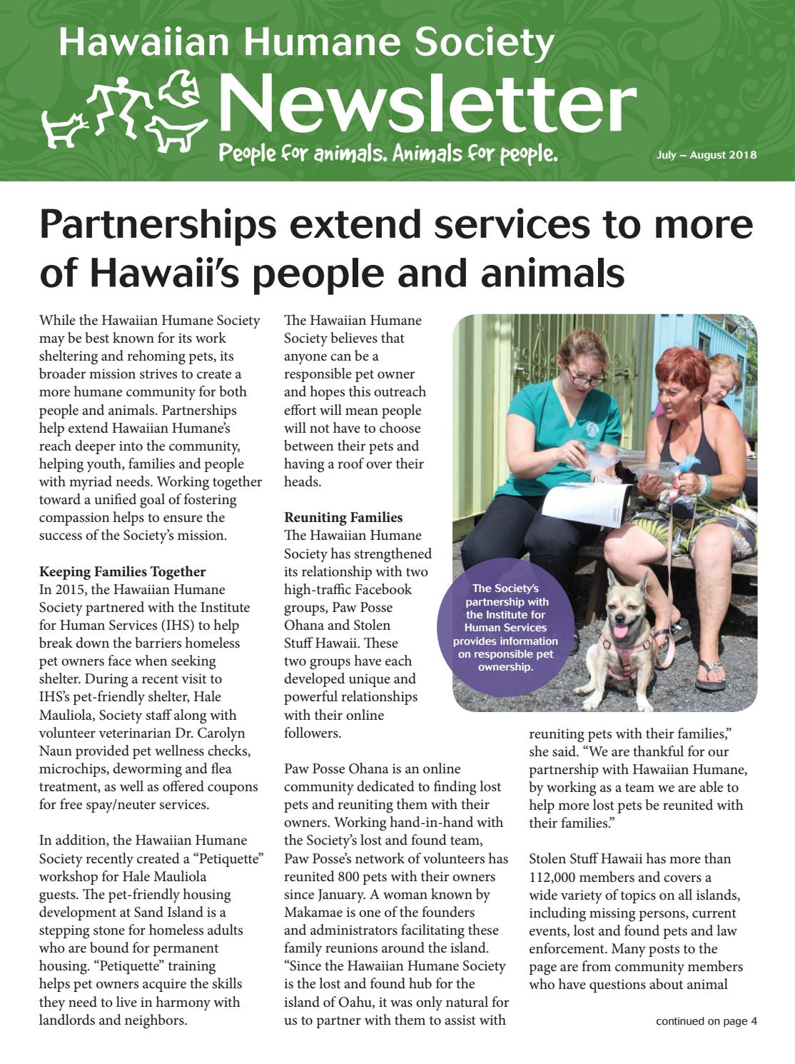 e20eb11b5 Hawaiian Humane Society July-August Newsletter by Hawaiian Humane ...