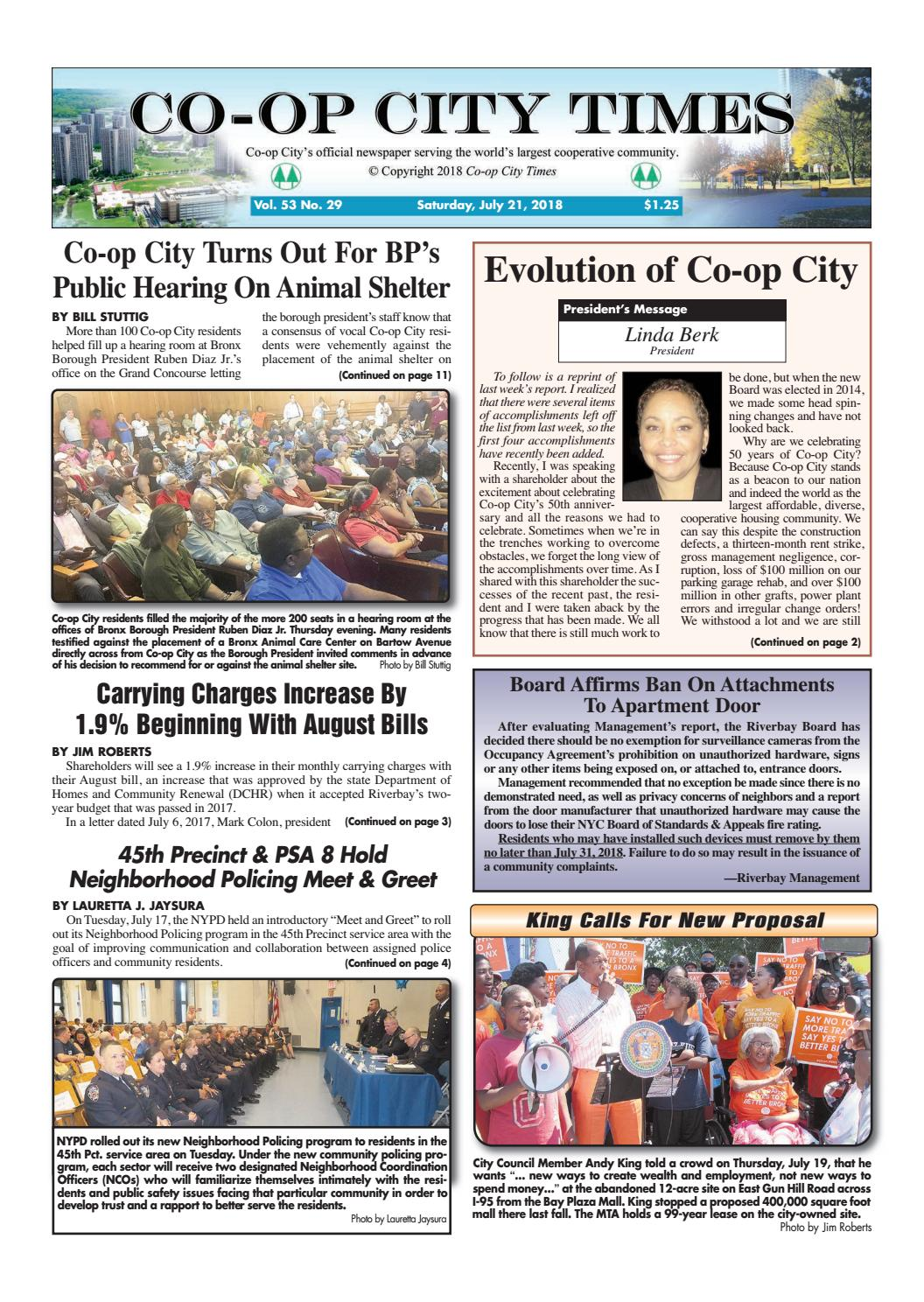6ec2dda88e78 Co-op City Times 7 21 18 by Co-op City Times - issuu