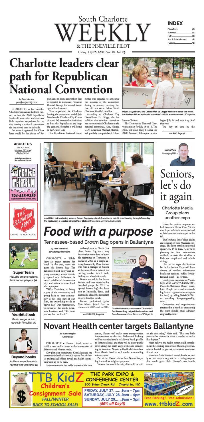 South Charlotte Weekly July 20 by Carolina Weekly - issuu