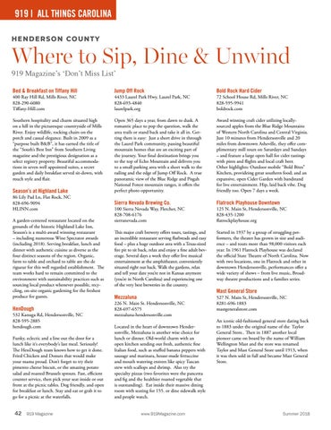 Page 42 of Where to SHOP, DINE & UNWIND in Western North Carolina