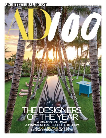 Architectural Digest Usa January 2018 By Kiếntrúc Online