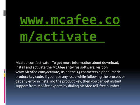 how to activate mcafee antivirus using product key