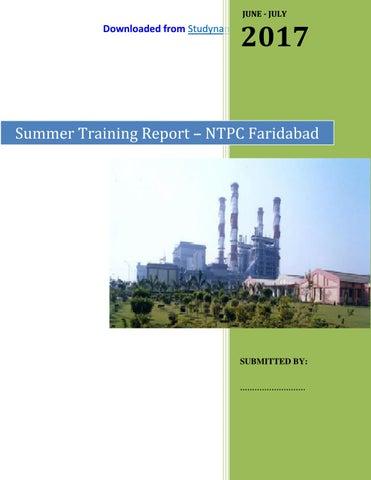 NTPC Faridabad - Electrical Engg  (EE) 6 Week Summer