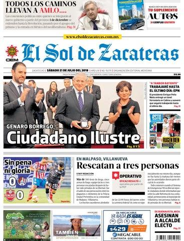 El Sol de Zacatecas 21 de julio 2018 by El Sol de Zacatecas - issuu c926dd4d583