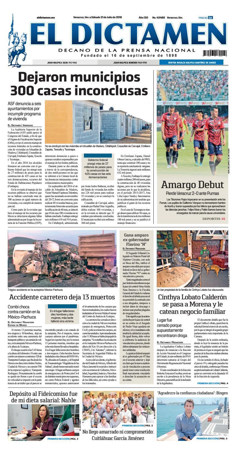 El Dictamen 21 de Julio 2018 by El Dictamen - issuu 744b6c0d5fc
