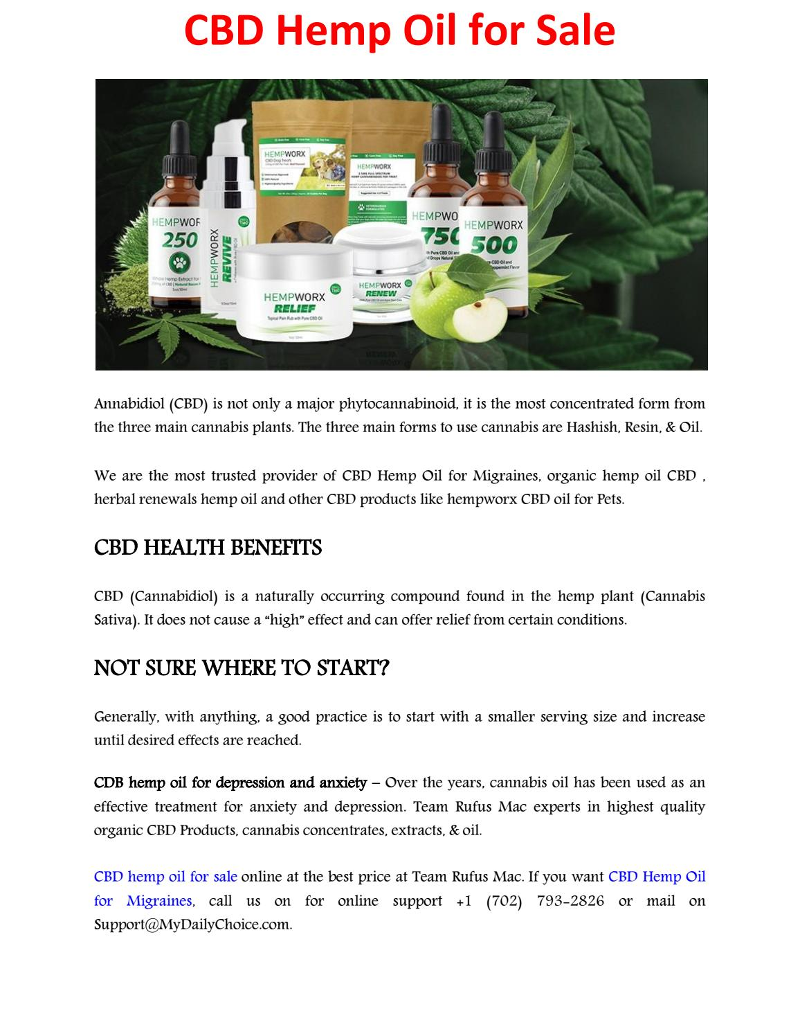 CBD hemp oil for sale by Robin Cabral - issuu