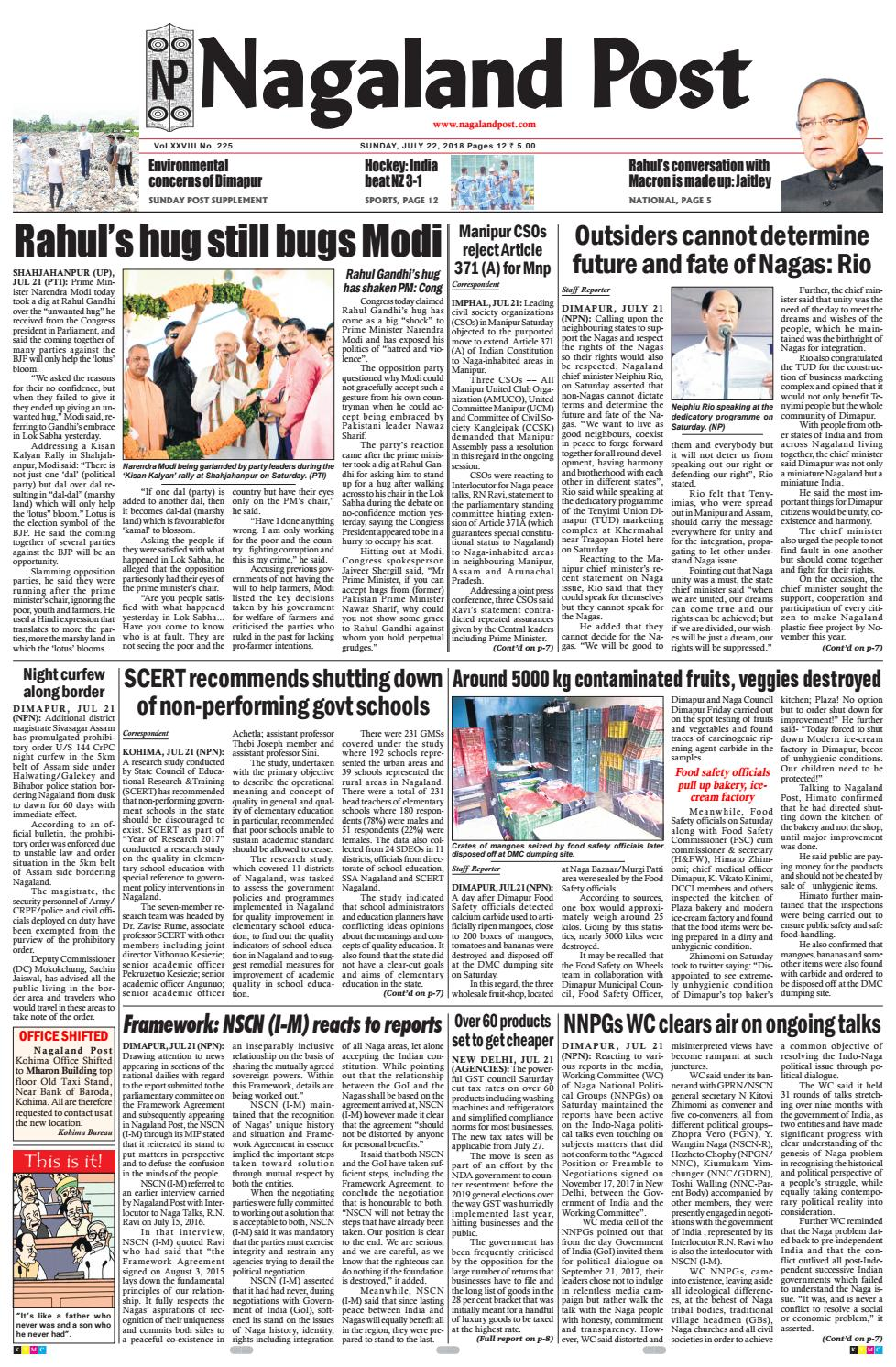 July 22, 2018 by Nagaland Post - issuu