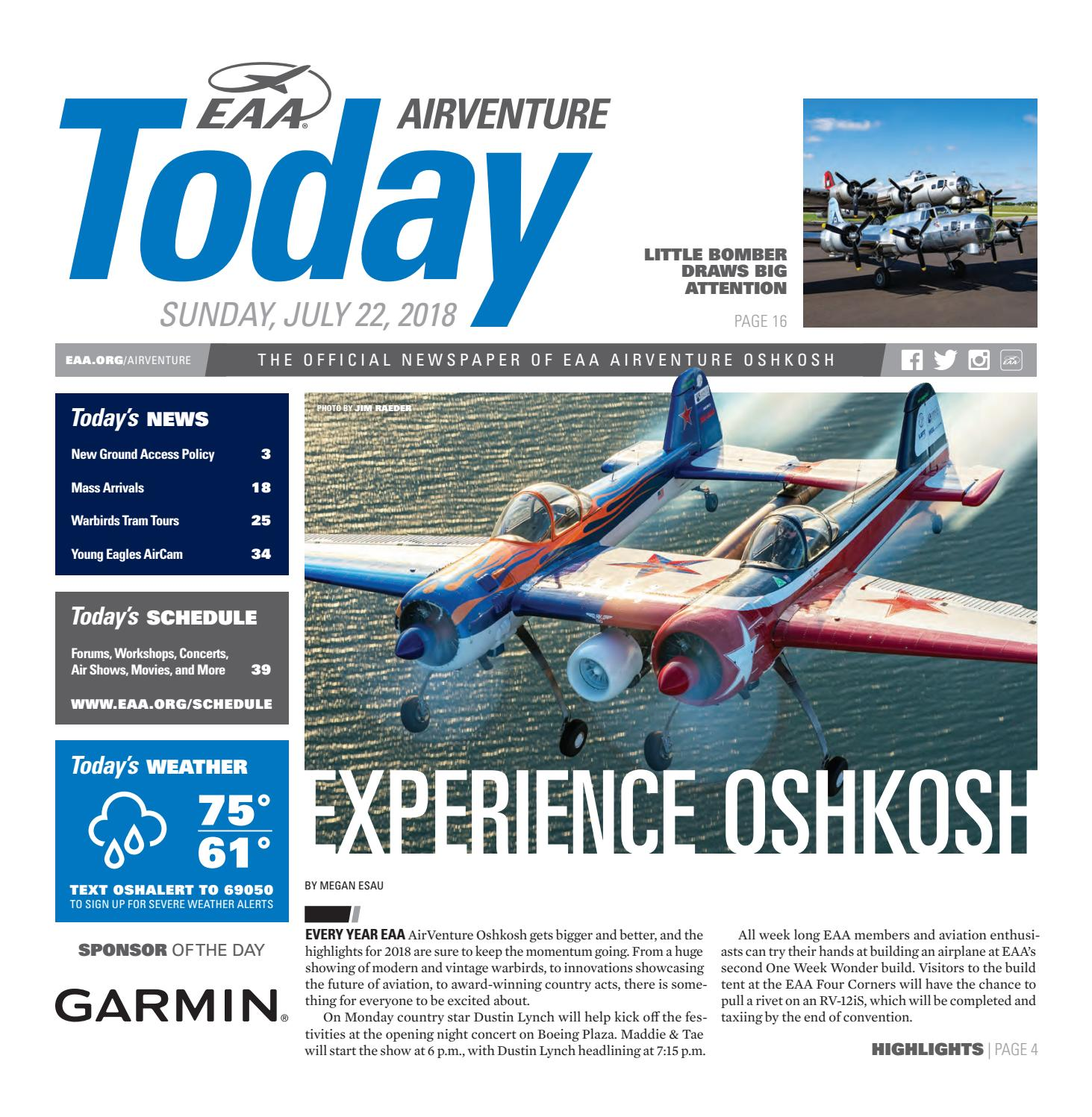 EAA AirVenture Today - Sunday, July 22, 2018 by EAA