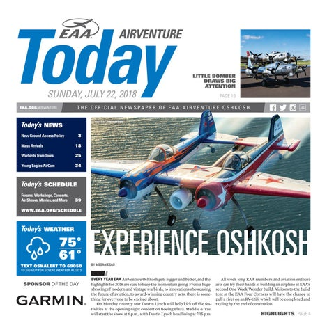 EAA AirVenture Today - Sunday, July 22, 2018 by EAA: Experimental