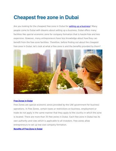 cheapest free zone in dubai by businesssetupgroupuae - issuu