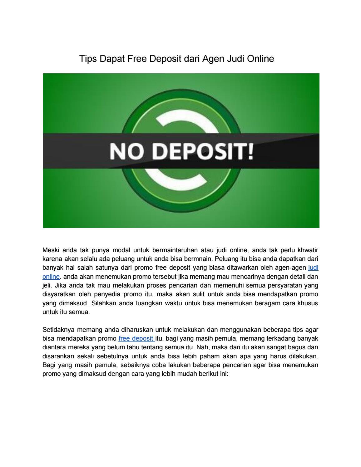 Tips Dapat Free Deposit Dari Agen Judi Online By Itsdewapoker88 Issuu