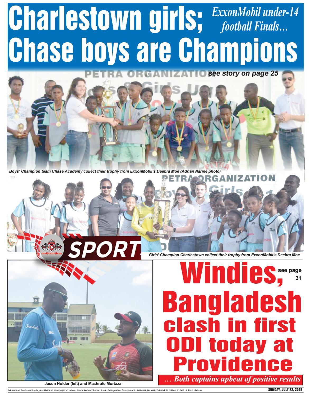 Guyana Chronicle E-paper 07-22-2018 by Guyana Chronicle E