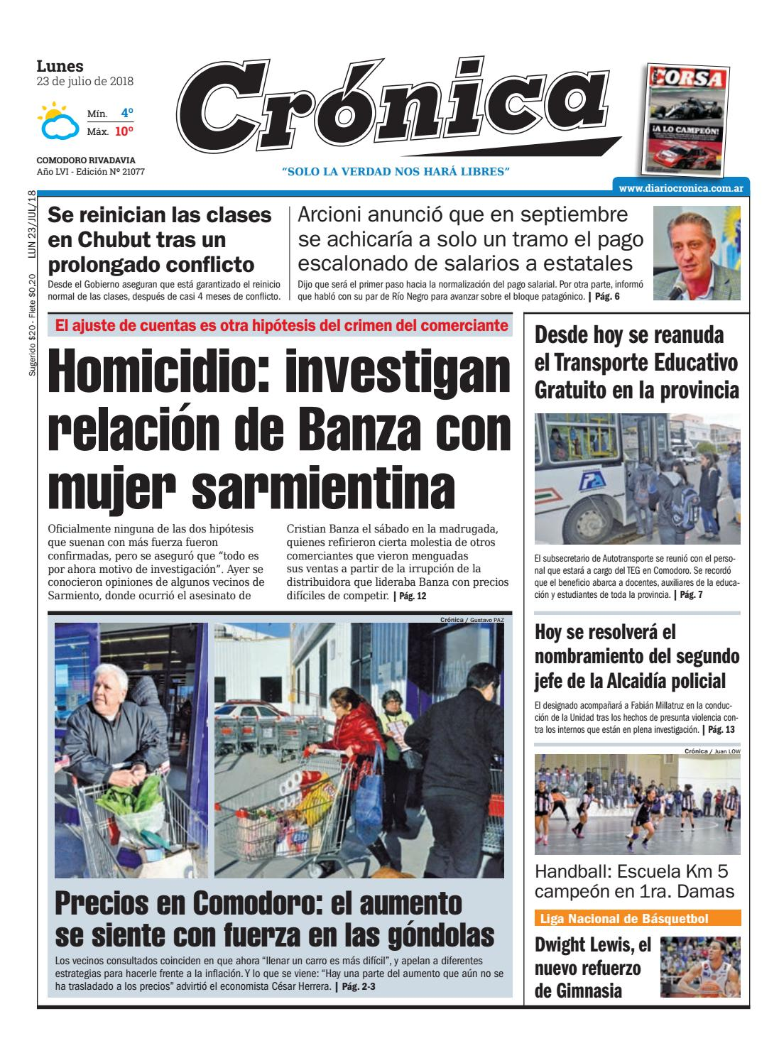 Diario cronica 23 07 2018 by Diario Crónica - issuu