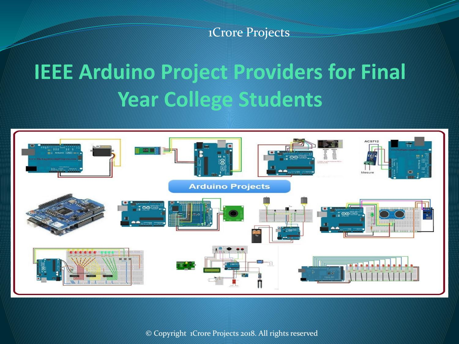 IEEE Arduino Project Providers for Final Year College Students by