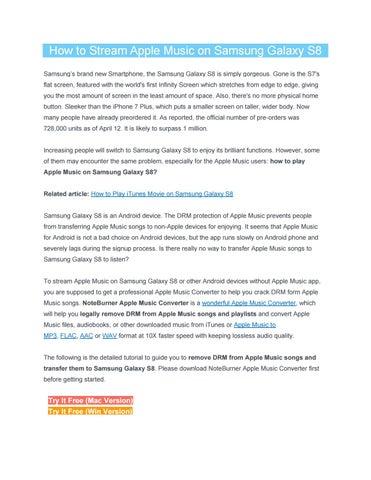 How to Stream Apple Music on Samsung Galaxy S8 by Joe Gromny
