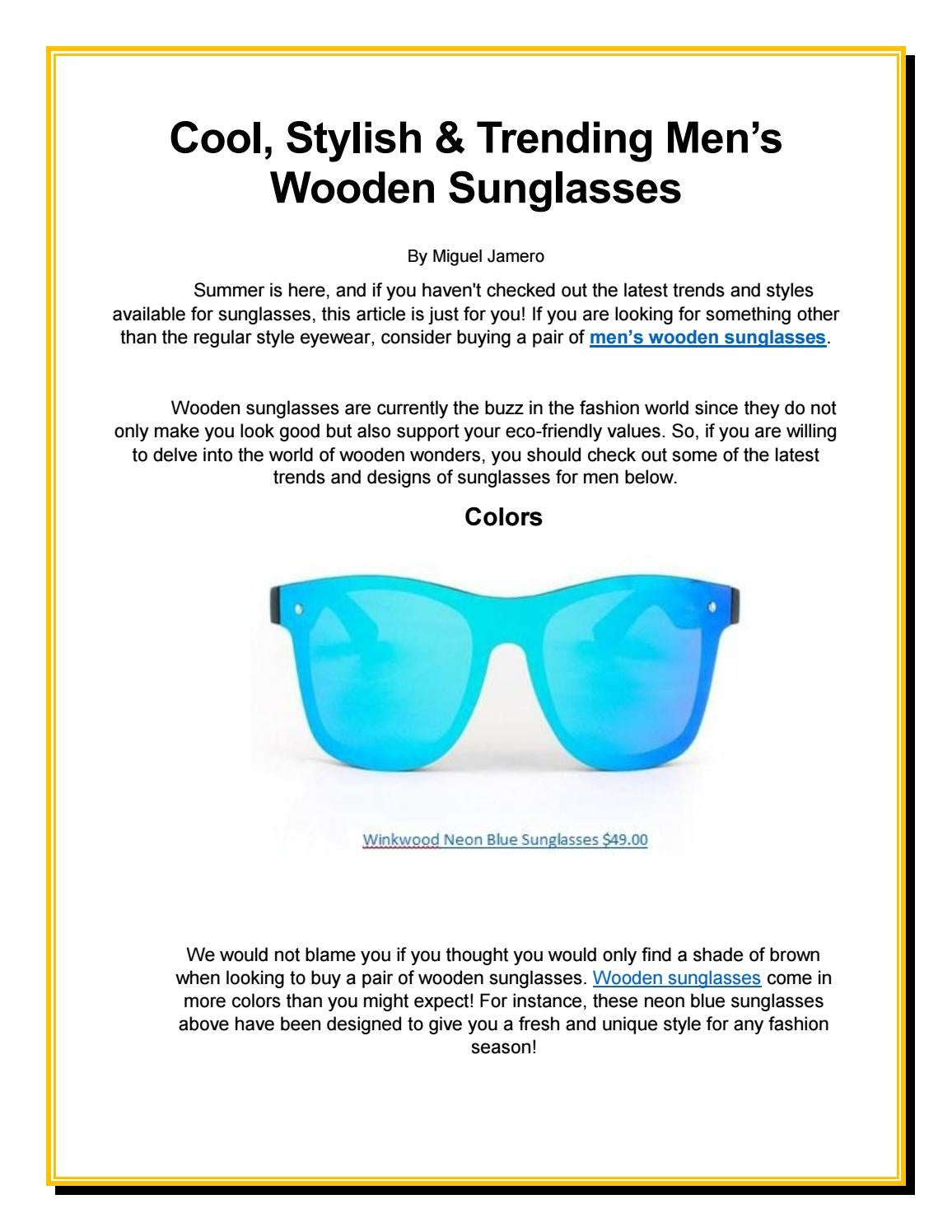 c0f6b5377cde Cool, Stylish & Trending Men's Wooden Sunglasses by thewoodtemple ...