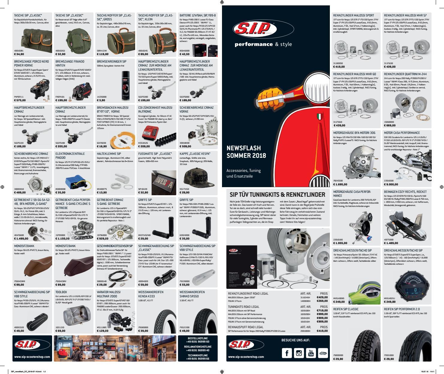 L Rücklicht SIP MK II Rücklicht Sockel für Vespa  Primavera//Sprint 50-150ccm