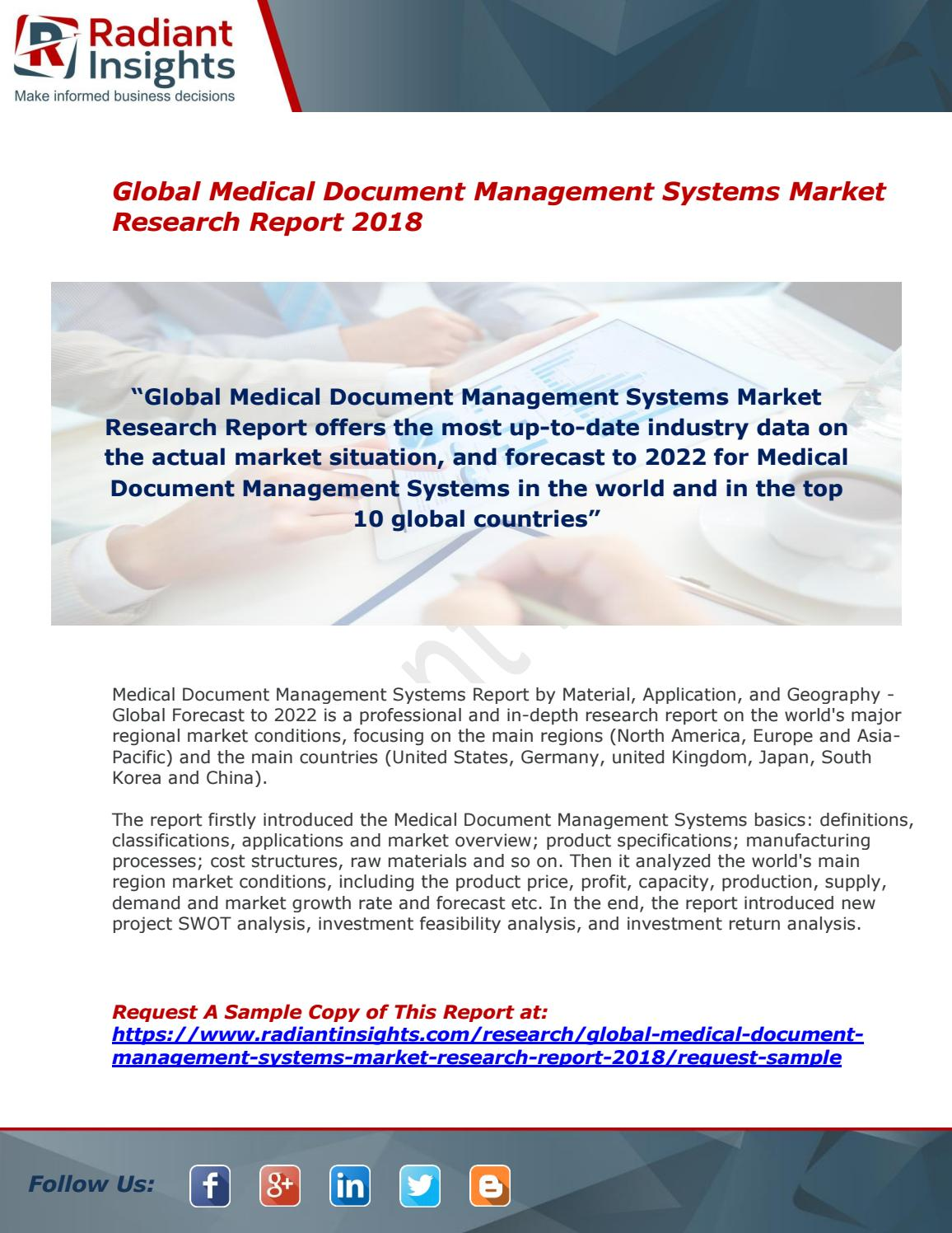 Medical Document Management Systems Market : Size, Growth